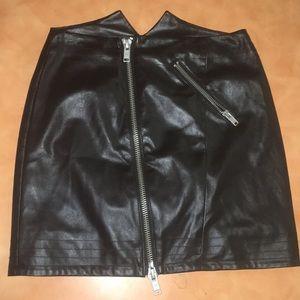 Nasty Gal zipper leather mini